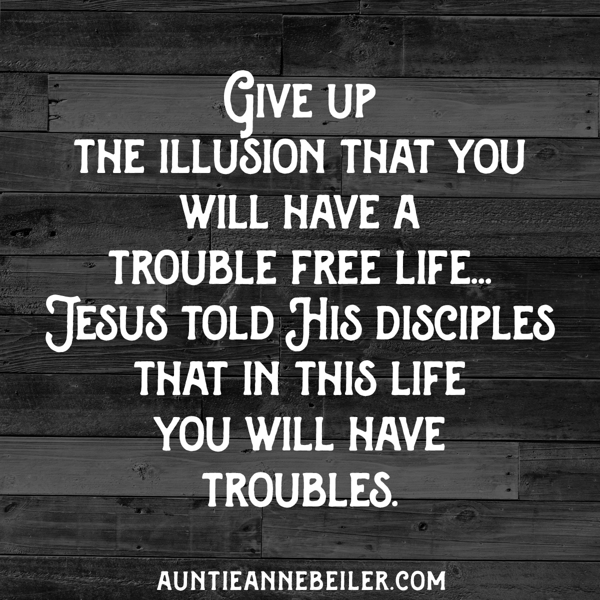 In This Life, You Will Have Troubles
