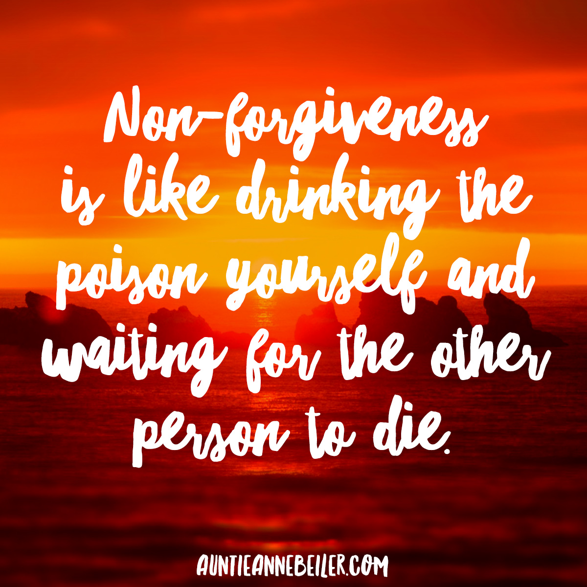 The Poison of Non-Forgiveness